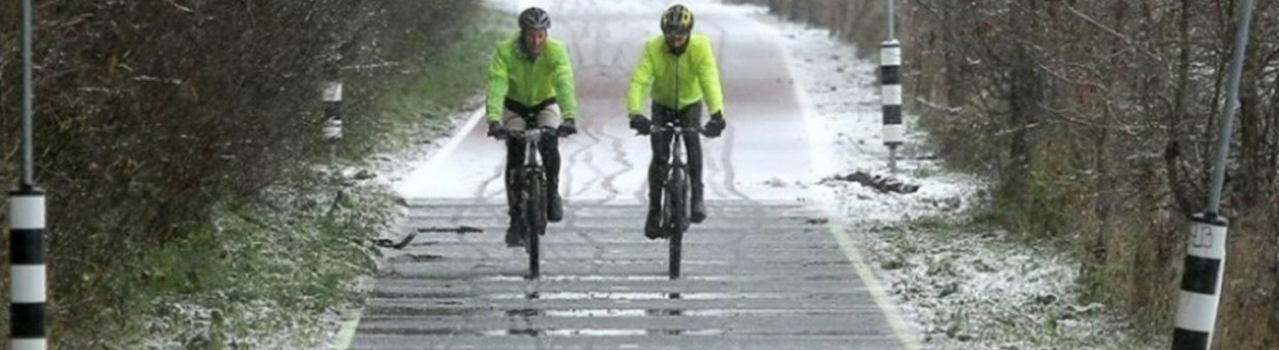 Verwarmd fietspad in Wageningen